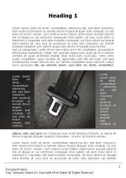 Seat Belt Word Template, First Inner Page, 09942, Cars/Transportation — PoweredTemplate.com