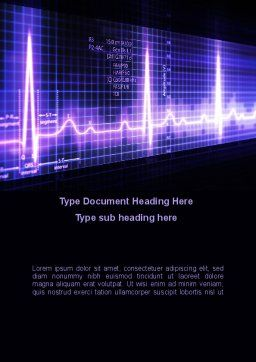 Analysis Of Oscilloscope Traces Word Template, Cover Page, 09943, Medical — PoweredTemplate.com