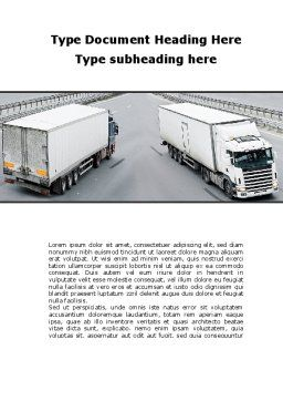 Cargo Traffic Word Template Cover Page