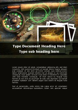 Fishing Tackle Word Template, Cover Page, 09947, Holiday/Special Occasion — PoweredTemplate.com