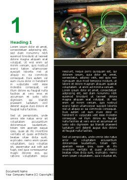 Fishing Tackle Word Template, First Inner Page, 09947, Holiday/Special Occasion — PoweredTemplate.com