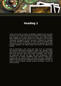 Fishing Tackle Word Template, Second Inner Page, 09947, Holiday/Special Occasion — PoweredTemplate.com