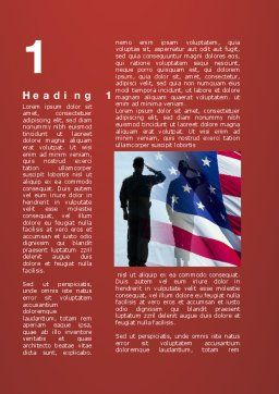 Saluting Flag Of The United States Word Template First Inner Page
