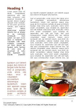 Two Cups Of Tea Word Template, First Inner Page, 09950, Food & Beverage — PoweredTemplate.com