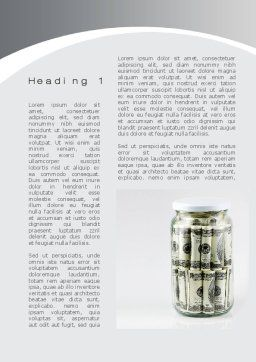 Glass Jar Full Of Dollars Word Template, First Inner Page, 09951, Financial/Accounting — PoweredTemplate.com