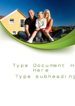 Townhouse of Happy Family Word Template, Cover Page, 09957, Consulting — PoweredTemplate.com