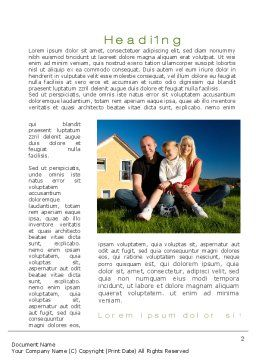 Townhouse of Happy Family Word Template, First Inner Page, 09957, Consulting — PoweredTemplate.com