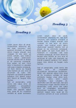 Household Chemistry Word Template, Second Inner Page, 09962, Careers/Industry — PoweredTemplate.com