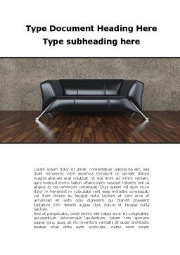 Sofa Word Template, Cover Page, 09963, Business Concepts — PoweredTemplate.com