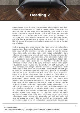 Sofa Word Template, Second Inner Page, 09963, Business Concepts — PoweredTemplate.com