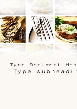 Durum Wheat Products Word Template, Cover Page, 09966, Food & Beverage — PoweredTemplate.com