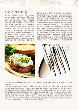 Durum Wheat Products Word Template, First Inner Page, 09966, Food & Beverage — PoweredTemplate.com