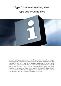 Information Box Word Template, Cover Page, 09969, Consulting — PoweredTemplate.com