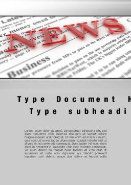 Business News Word Template, Cover Page, 09970, Business Concepts — PoweredTemplate.com