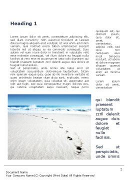 Footprints On The Dune Word Template, First Inner Page, 09972, Holiday/Special Occasion — PoweredTemplate.com