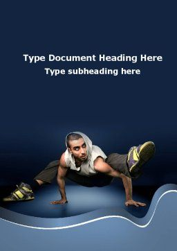 Street Dancer Word Template, Cover Page, 09974, Sports — PoweredTemplate.com