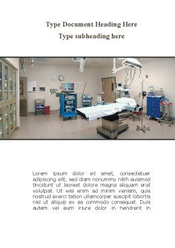 Medical Equipment For Operation Room Word Template, Cover Page, 09979, Medical — PoweredTemplate.com