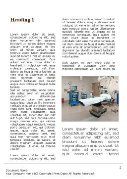 Medical Equipment For Operation Room Word Template, First Inner Page, 09979, Medical — PoweredTemplate.com