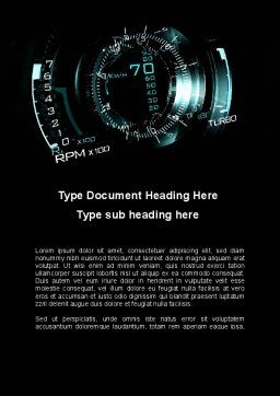 Digital Futuristic Speedometer Word Template, Cover Page, 09980, Cars/Transportation — PoweredTemplate.com