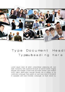 Our Team Word Template, Cover Page, 09982, Business — PoweredTemplate.com