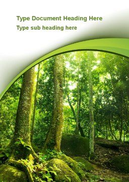 Trees in the Forest Word Template, Cover Page, 09985, Nature & Environment — PoweredTemplate.com