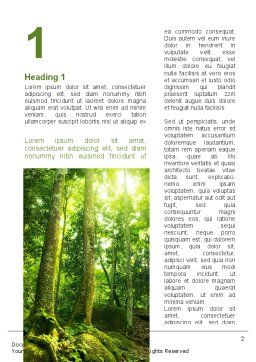 Trees in the Forest Word Template, First Inner Page, 09985, Nature & Environment — PoweredTemplate.com