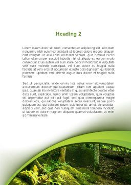 Trees in the Forest Word Template, Second Inner Page, 09985, Nature & Environment — PoweredTemplate.com