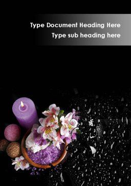 Violet Bath Salt Word Template, Cover Page, 09987, Holiday/Special Occasion — PoweredTemplate.com