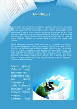 Flying Papers Word Template, First Inner Page, 09989, Business — PoweredTemplate.com