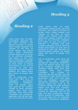 Flying Papers Word Template, Second Inner Page, 09989, Business — PoweredTemplate.com