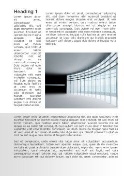 Glassed-in Gallery Word Template, First Inner Page, 09996, Construction — PoweredTemplate.com