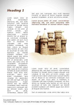 Sand Castle Word Template, First Inner Page, 09998, Construction — PoweredTemplate.com