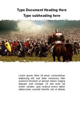 The Great Battles of the Middle Ages Word Template, Cover Page, 09999, Military — PoweredTemplate.com
