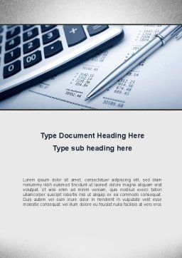 Summing Calculation Word Template, Cover Page, 10000, Financial/Accounting — PoweredTemplate.com