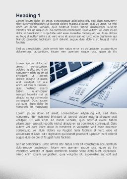 Summing Calculation Word Template, First Inner Page, 10000, Financial/Accounting — PoweredTemplate.com