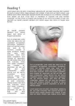 Diseases Of The Throat Word Template First Inner Page