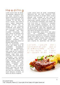 Pork Ribs with Potatoes Word Template First Inner Page