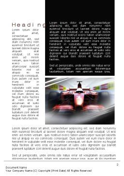 Formula One Bolide Racing Word Template, First Inner Page, 10013, Sports — PoweredTemplate.com