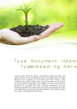 Plant Growth Word Template, Cover Page, 10014, Business Concepts — PoweredTemplate.com