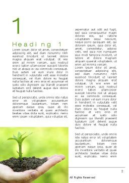 Plant Growth Word Template, First Inner Page, 10014, Business Concepts — PoweredTemplate.com