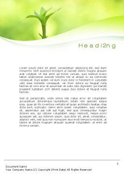 Plant Growth Word Template Second Inner Page