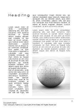 Puzzle In Sphere Word Template First Inner Page