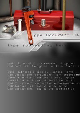 Plumbing Tool Box Word Template, Cover Page, 10017, Utilities/Industrial — PoweredTemplate.com