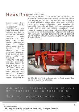 Plumbing Tool Box Word Template, First Inner Page, 10017, Utilities/Industrial — PoweredTemplate.com