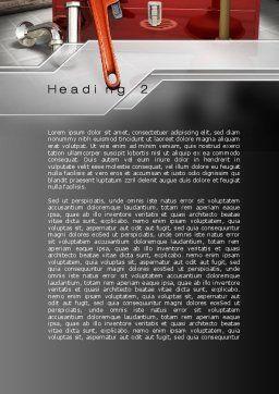 Plumbing Tool Box Word Template, Second Inner Page, 10017, Utilities/Industrial — PoweredTemplate.com