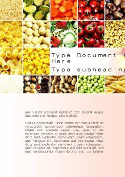 Vegetarian Foods Word Template, Cover Page, 10018, Agriculture and Animals — PoweredTemplate.com