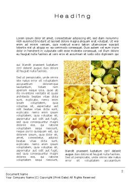 Vegetarian Foods Word Template, First Inner Page, 10018, Agriculture and Animals — PoweredTemplate.com