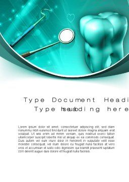 Tooth And Stomatology Instruments Word Template, Cover Page, 10019, Medical — PoweredTemplate.com