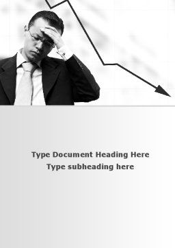Slump Word Template, Cover Page, 10020, Business — PoweredTemplate.com
