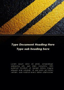 Dividing Line Word Template, Cover Page, 10022, Construction — PoweredTemplate.com